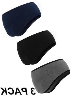 3 PACK Ear Warmer Headband Man Winter Headband Fleece Ear Mu