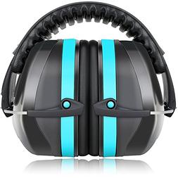 Fnova 34dB Highest NRR Safety Ear Muffs - Professional Ear D