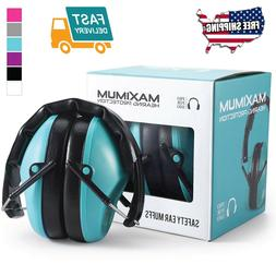 34dB Shooting Ear Protection Ear Muffs Maximum Hearing Light