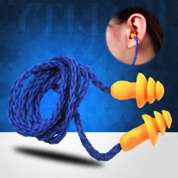 5Pcs Corded Ear Plugs Anti-Noise Earplugs Protective Earmuff