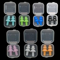 7 Color Silicone Ear Plugs Ear Muffs Anti Noise Snore Diving