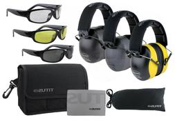 TITUS Black-Series 34 NRR Safety Earmuff & Glasses Combos Wi