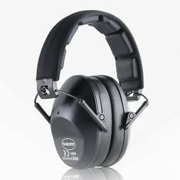Black Shooting Range Earmuff Noise Reduction HIGHEST NRR Sli