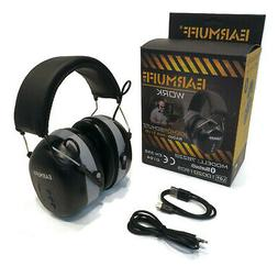 EarMuff Black Wireless Headset, 31dB with Bluetooth for Work