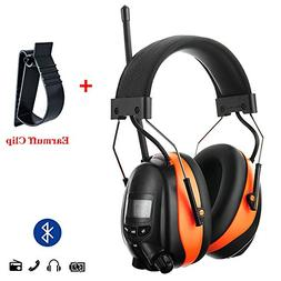 PROTEAR Bluetooth AM FM Radio Noise Reduction Safety Ear Muf