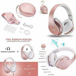 Bluetooth Over-Ear Headphones, Zihnic Foldable Wireless and
