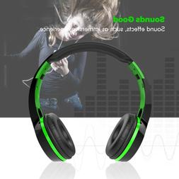 Bluetooth Wireless Headphone Over Ear Stereo Headset w/Built