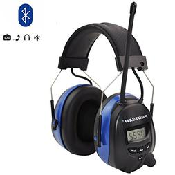 PROTEAR Bluetooth Wireless Noise Cancelling Headphones, AM/F