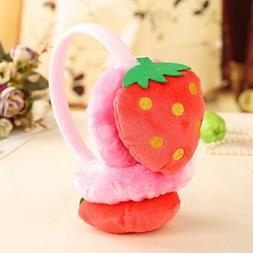 Cartoon Fruit Plush Earmuffs Kids Thick Ear Warm Cover Fashi