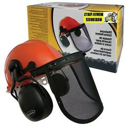 CHAINSAW CHAIN SAW SAFETY HELMET EAR MUFFS FACE SHIELD SYSTE