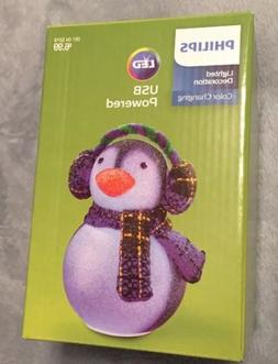 Philips Christmas USB Powered LED  Color Changing Penguin Ea