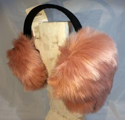 ear muffs pink peach blush faux fur