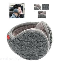 Ear Muffs Warmer Unisex Warm Knit Cashmere Winter Pure Color