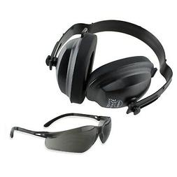 EARMUFFS & EYE PROTECTION HEARING EAR NOISE REDUCTION SHOOTI