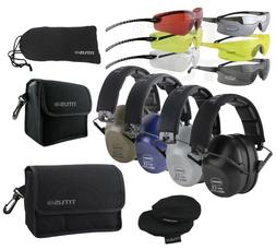 TITUS Econo 2-Series 34 NRR Safety Earmuff & Glasses Combos
