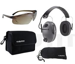 EG1 Noise-Cancelling Earmuffs and Glasses Combo - 24 Decibel
