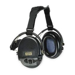 MSA Electronic Ear Muff,18dB,Over-the-Head, 10082166