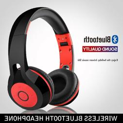 Foldable Wireless Bluetooth Headphones Stereo Headset Earmuf