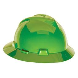 MSA 815570 V-Gard Slotted Full-Brim Protective Hat with Fas-