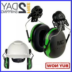 Hearing Protection Hard Hat Cap Mount Ear Muffs Noise Reduct