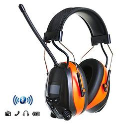 PROTEAR Hearing Protection Wireless Bluetooth AM FM Radio He