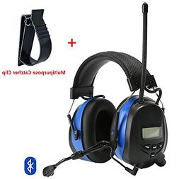 PROTEAR Bluetooth Hearing Protection Headphones with AM/FM D