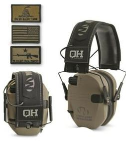 HQ ISSUE Walker's Patriot Series Electronic Ear Muffs Huntin