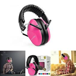 Kids Safety Sound Impact Pink Ear Muffs Hearing Protection N