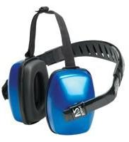 Three Position, 27 Max NRR, Black and Blue Earmuffs