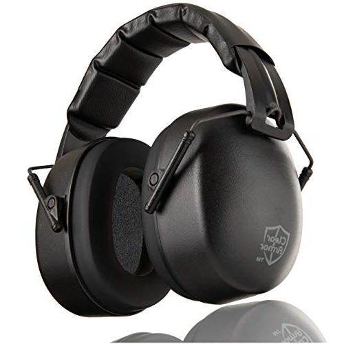 ClearArmor Hearing Protection Ear Folding-Padded Cups, Black