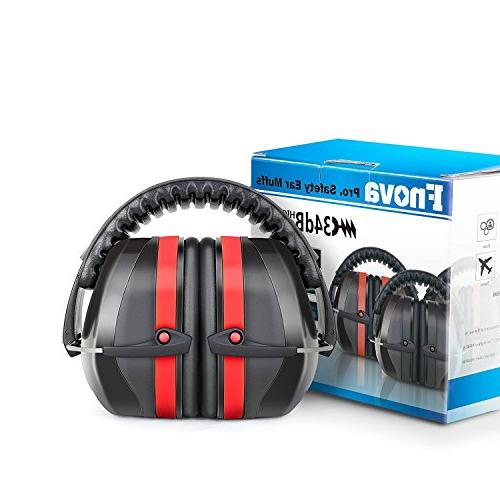 Fnova Highest Safety Muffs - Professional Defenders for Shooting, Adults