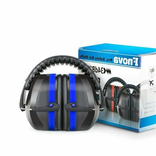 Blue Ear Muffs Protection Construction Shooting Noise Reduct