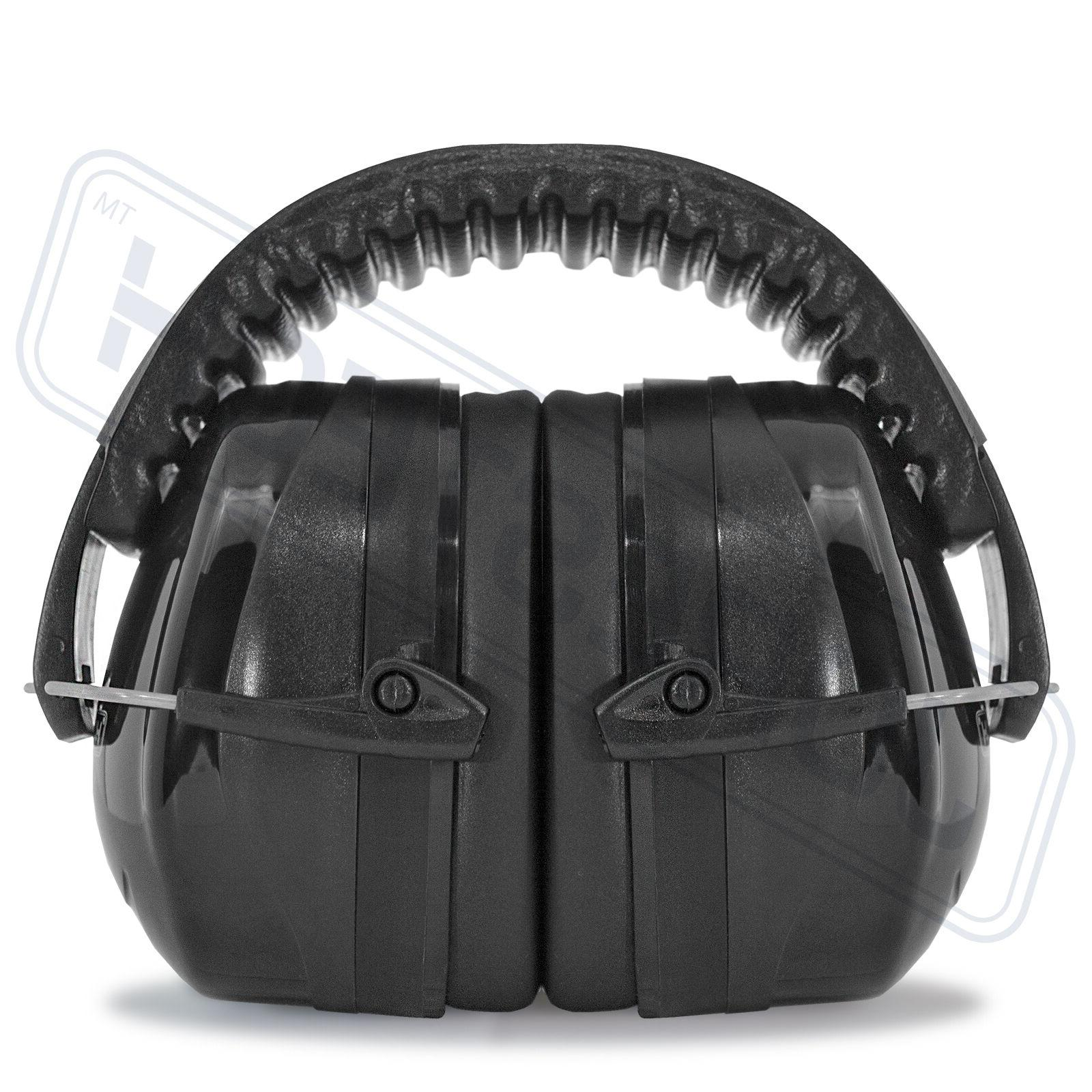 black ear muffs protection construction
