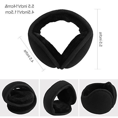 Mocofo Fleece Ear Muffs, Collapsible Ear Warmers for Men