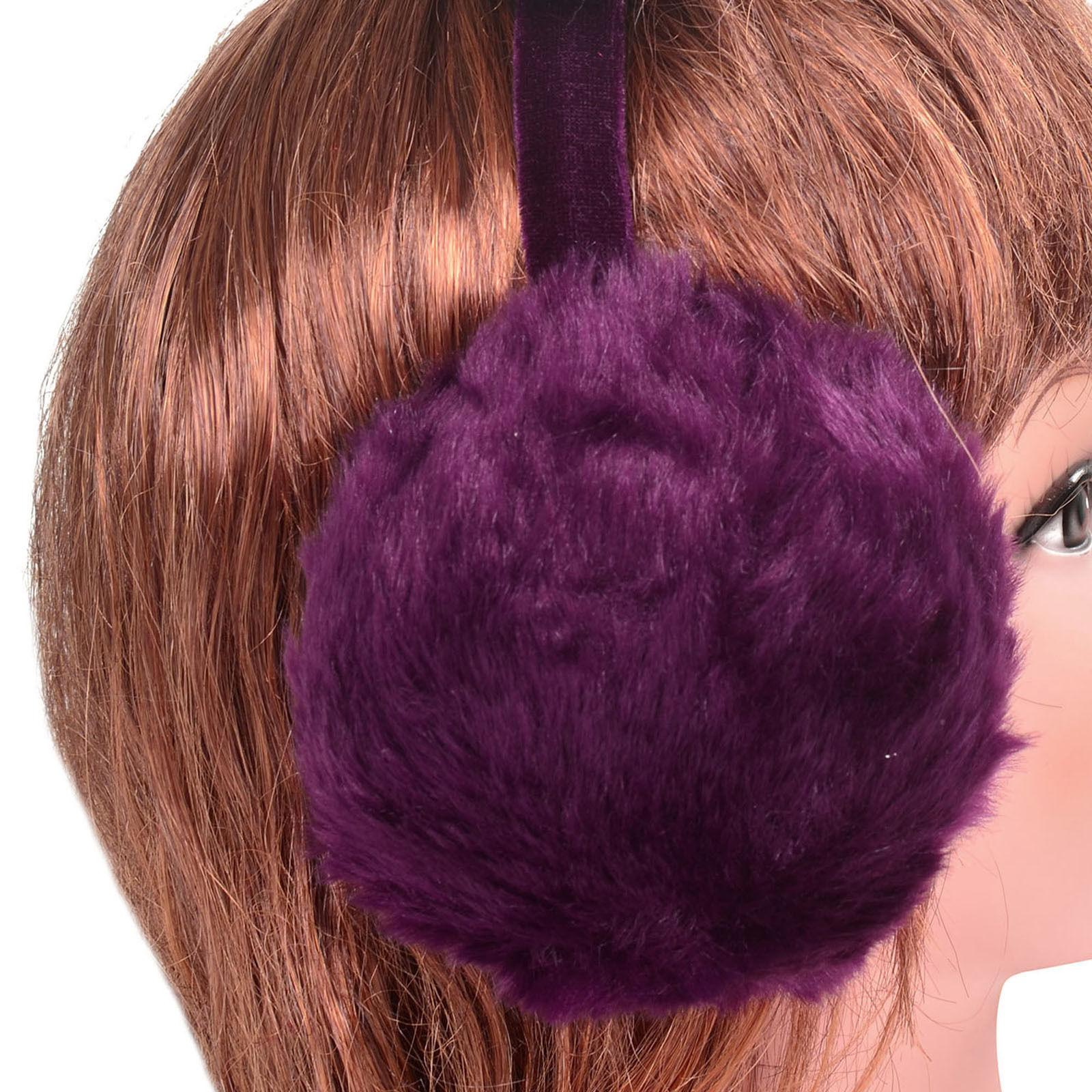 Women's Faux Fur Ear Fleece Winter Warmers Earmuff