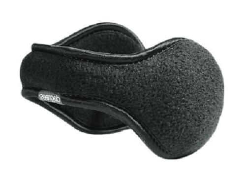 degrees black fleece ear warmers