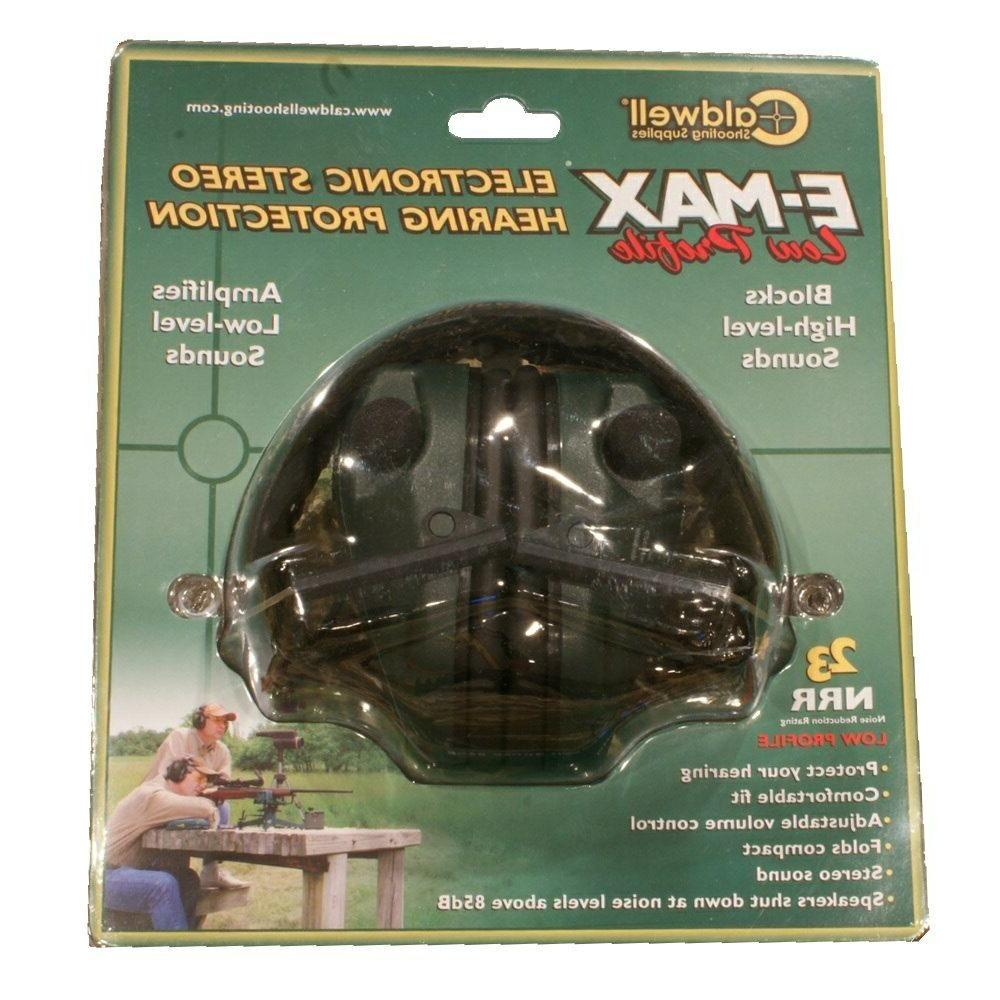 Caldwell E-Max Electronic Protection Amplification and Adjustable Earmuffs Shooting, Hunting Green