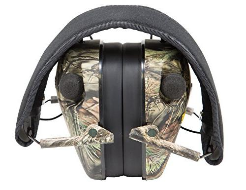 Caldwell E-Max Low Electronic 23 NRR Protection with Sound Amplification and Shooting, Hunting Mossy Oak