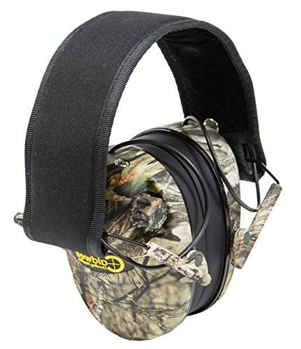 Caldwell Low Electronic Protection with and Earmuffs Shooting, Hunting Range, Mossy Oak
