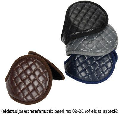 Ear Muffs Men Adults Plush Leather Adjustable Protection
