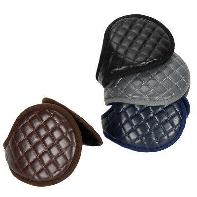 ear muffs accessories men adults plush leather