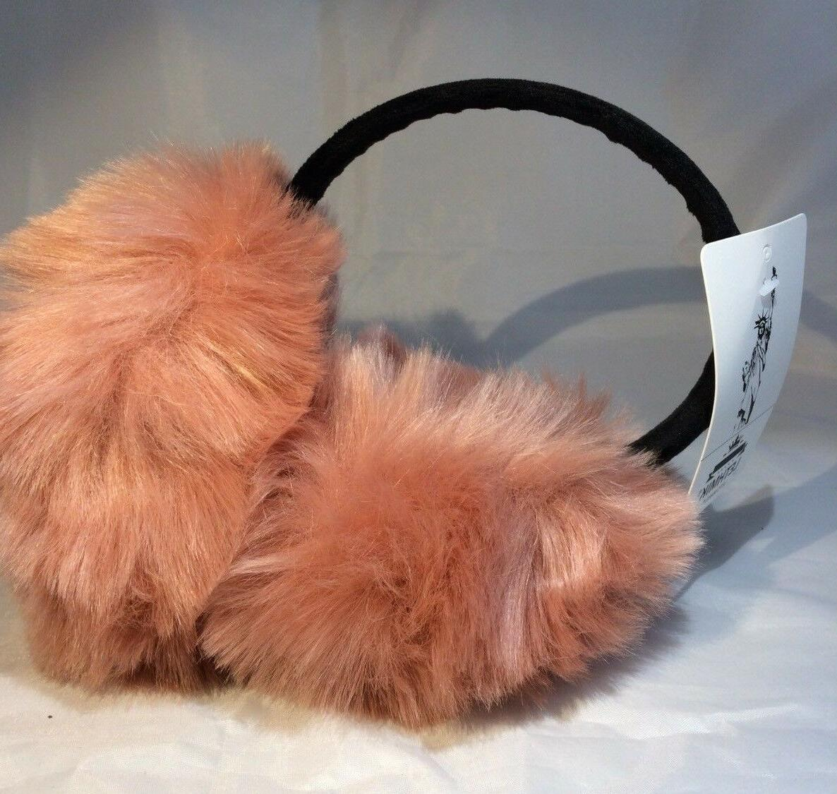 Lethmik Muffs Pink Peach Blush Faux One Size