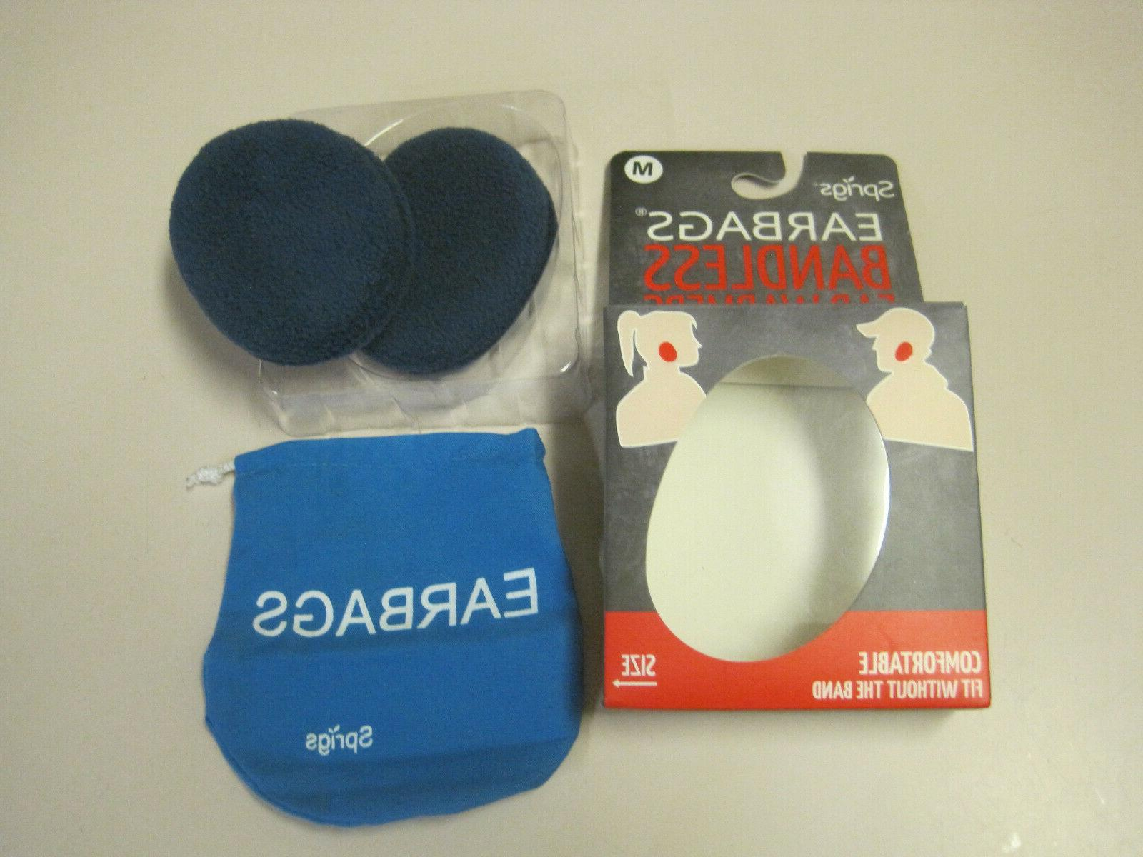 earbags bandless ear warmers blue size medium