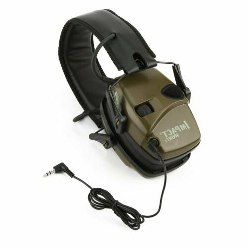 Electronic Leight Impact Earmuffs Protection