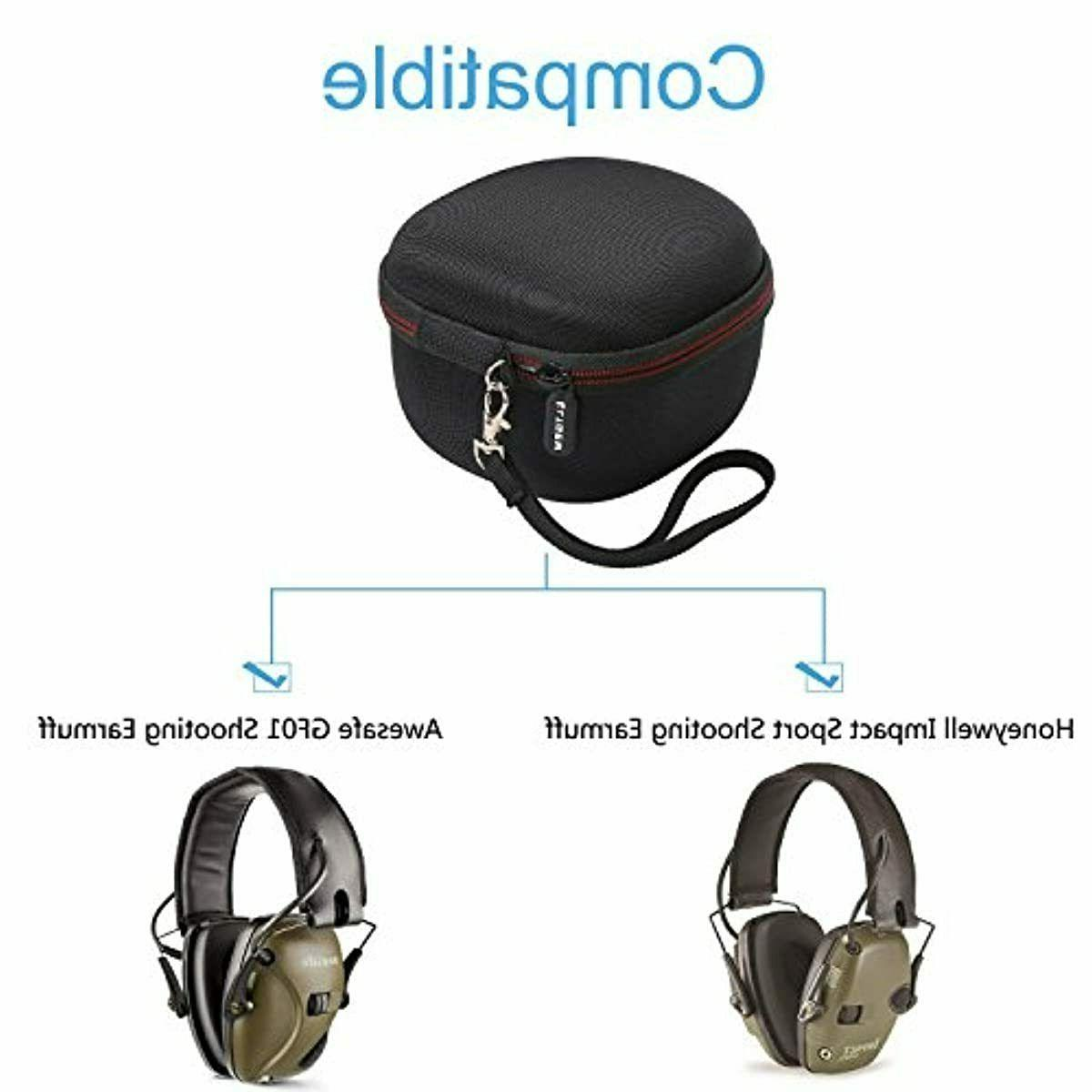 Protection Case Electronic Ear Muffs Noise Impact Shooting