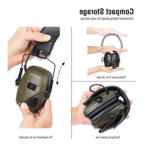 New Awesafe GF01 Sound Safety Ear Protection, NRR 22 dB, for Shooting Hunting