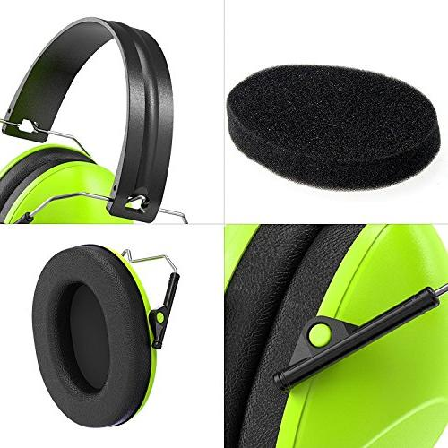 Dr.meter Earmuffs with NRR Hearing Earmuffs for Shooting Sleeping and Green-2