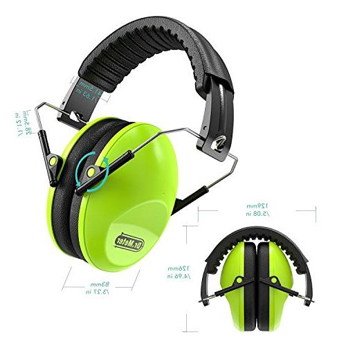 Dr.meter Earmuffs Hearing Protection Earmuffs for Shooting Studying, Green-2