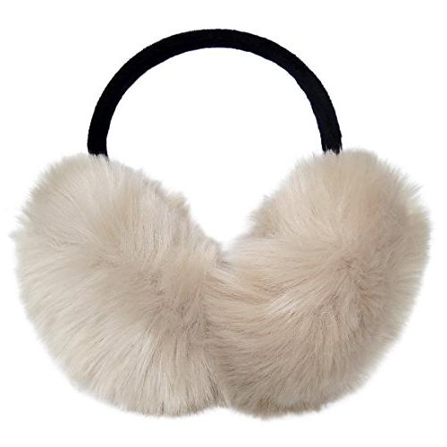 faux fur foldable big earmuffs