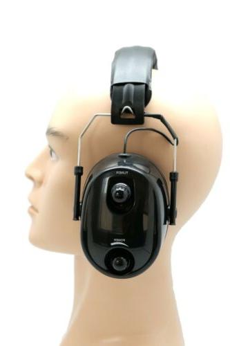 FM Radio Ear Ear Hearing Black